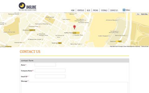 Screenshot of Contact Page imajineweb.com - Contact Us | Imajine - captured Sept. 25, 2014