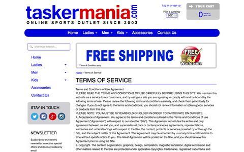 Screenshot of Terms Page taskermania.com - Terms of Service- small print. We do business with integrity & honesty – taskermania.Com - captured Nov. 5, 2014