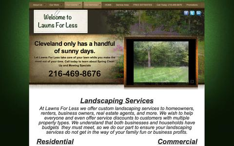 Screenshot of Services Page lawnsforless.biz - Lawn Care Services brought to you by Lawns For Less | Lawns For Less - captured Sept. 29, 2014