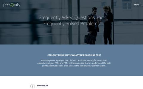 Frequently Asked Questions (FAQs) - Personify