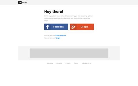 Screenshot of Signup Page 9gag.com - 9GAG - Why So Serious? - captured July 18, 2014