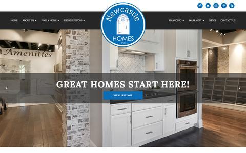 Screenshot of Home Page newcastle-homes.com - Newcastle Homes - captured June 18, 2017