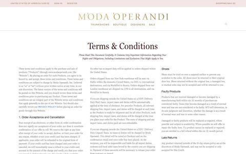 Terms | Moda Operandi