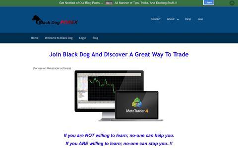 Screenshot of Signup Page blackdogforex.com - Join Black Dog - Black Dog Forex - captured Dec. 3, 2016