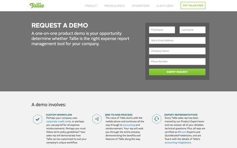 Request Demo | Expense Management Software | Tallie