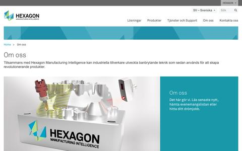 Screenshot of About Page hexagonmi.com - Om oss | Hexagon Manufacturing Intelligence - captured Nov. 25, 2017