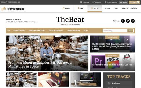 Screenshot of Blog premiumbeat.com - The Beat: A Blog by PremiumBeat - - captured Oct. 2, 2015