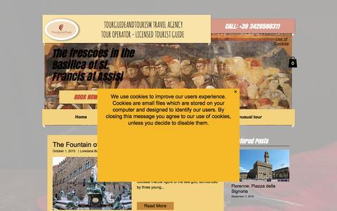 Screenshot of Blog tourguideandtourism.com - Umbria and Florence Blog - captured Nov. 25, 2016