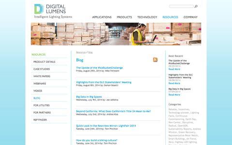 Screenshot of Blog digitallumens.com - Blog - Commercial & Industrial LED Lighting | Digital Lumens - captured Sept. 15, 2014