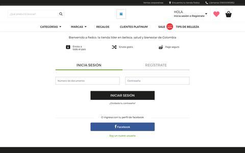 Screenshot of Login Page fedco.com.co - Fedco - captured Oct. 10, 2018