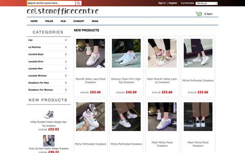 Screenshot of Home Page colstonofficecentre.co.uk - High Quality man's/women's clothing,shoes,accessories   Colstonofficecentre.co.uk .Discount online - captured May 20, 2017