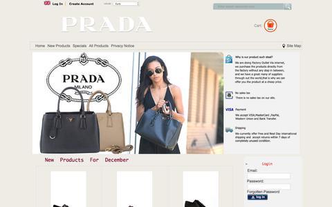 Screenshot of Home Page trakware-solutions.co.uk - prada online store|prada uk shop|prada bags - captured Dec. 2, 2016