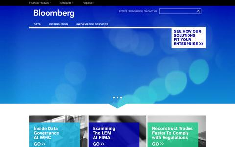 Screenshot of bloomberg.com - Bloomberg Enterprise Solutions   Trading, Risk, Compliance, Operations - captured Oct. 11, 2014