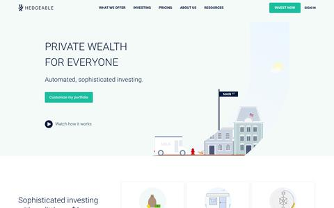Hedgeable | Sophisticated Investing Made Simple