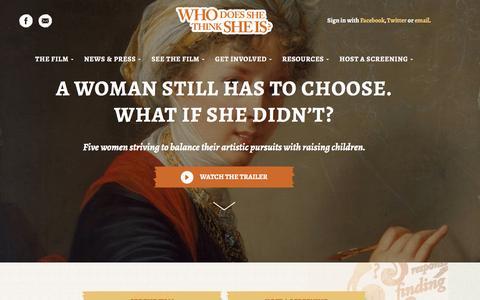 Screenshot of Home Page whodoesshethinksheis.net - Who does she thinks she is - captured Feb. 26, 2017