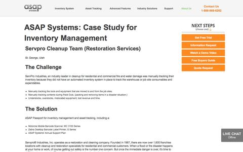 Screenshot of Case Studies Page asapsystems.com - ASAP Systems - Inventory Management Software   Inventory System   Asset Tracking System   Asset Tracking Software   Case Studies - captured Oct. 23, 2016