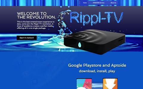 Screenshot of Home Page rippl-tv.com - rippl-tv - captured Sept. 19, 2014