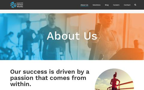 Screenshot of About Page corporatefitnessworks.com - The CFW Difference | Corporate Fitness Works - captured May 12, 2018