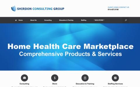 Screenshot of Home Page shirdonconsulting.com - Shirdon Consulting Group - captured Oct. 7, 2014
