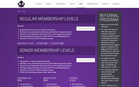 Screenshot of Signup Page boernetheatre.org - Join - captured Oct. 10, 2017