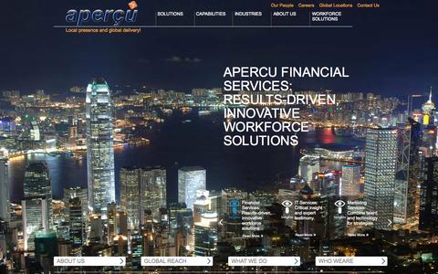 Screenshot of Home Page apercuglobal.com - Apercu Home Page | Apercu Global - captured Sept. 30, 2014