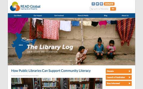 Screenshot of Blog readglobal.org - READ Global blog - captured Oct. 7, 2014