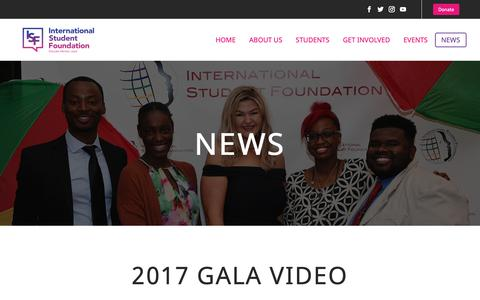 Screenshot of Press Page isfsite.org - News - International Student Foundation - captured Oct. 12, 2018