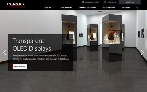Screenshot of Home Page planar.com - LCD & LED Digital Wall Displays & Signage Solutions | Planar - captured June 30, 2019