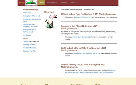 Screenshot of Site Map Page building-to-let.co.uk - Building-to-Let.co.uk Sitemap Nottingham NG11 Nottinghamshire - captured Oct. 7, 2018