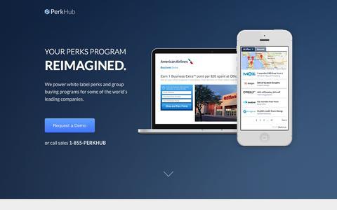 Screenshot of Contact Page perkhub.com - White label perks platform | Employee perks | Small business perks — PerkHub - captured Nov. 1, 2014