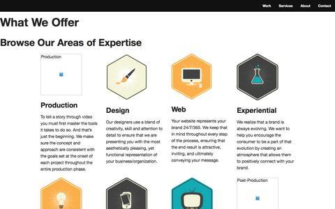 Screenshot of Services Page strivecreative.com - Strive Creative - Services - captured Dec. 3, 2017