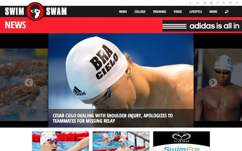 Screenshot of Press Page swimswam.com - News - SwimSwam - captured Aug. 3, 2015