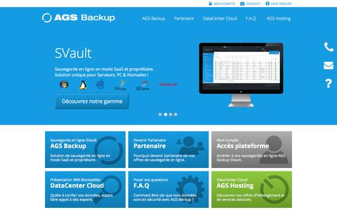 Screenshot of Home Page ags-backup.com - Sauvegarde en ligne - AGS Backup - captured Dec. 22, 2015