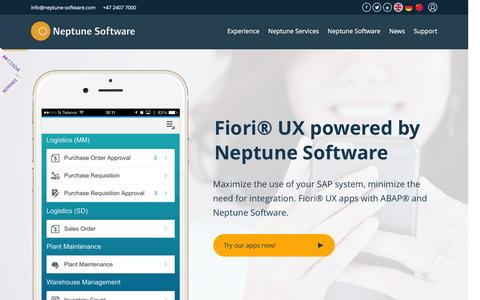 Neptune Software - The ABAP solution for SAP enterprise mobility