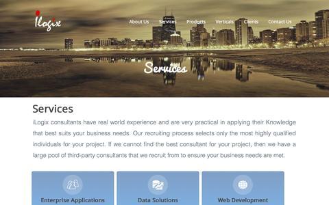 Screenshot of Services Page ilogixx.com - iLogix   Services - captured Oct. 6, 2014