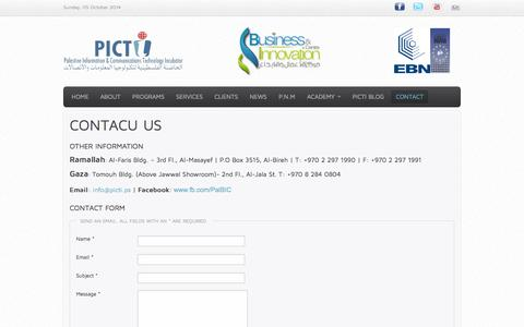 Screenshot of Contact Page picti.ps - Contact - captured Oct. 5, 2014