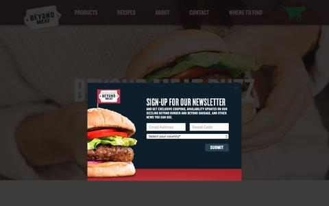 Screenshot of Press Page beyondmeat.com - Beyond Meat in the News | Press | Beyond Meat - The Future of Protein™ - captured Nov. 8, 2018