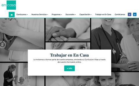 Screenshot of Home Page internaciondomiciliaria.org - En Casa   Internación domiciliaria - captured Oct. 29, 2018