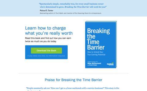 Breaking the Time Barrier - eBooks  | FreshBooks