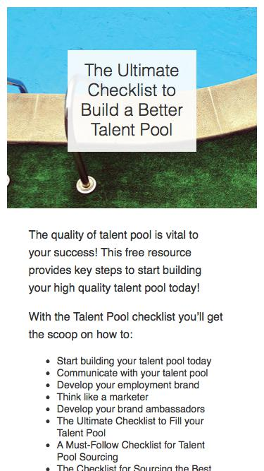 The Ultimate Checklist to Build a Better Talent Pool