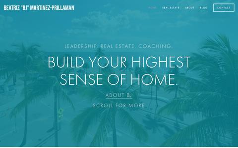 "Screenshot of Home Page bjmartinez.com - Beatriz ""BJ"" Martinez-Prillaman - captured March 18, 2016"