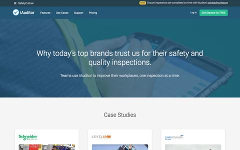 Screenshot of Case Studies Page safetyculture.com - Customers - SafetyCulture - captured Feb. 17, 2018