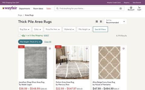 Thick Pile Area Rugs You'll Love | Wayfair