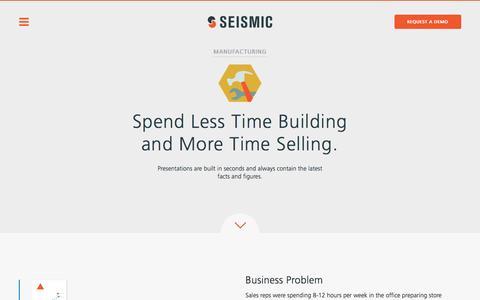 Manufacturing | Seismic