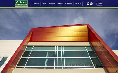 Screenshot of Home Page mcshane-construction.com - McShane Construction | Serving Clients Nationwide - captured Feb. 12, 2016