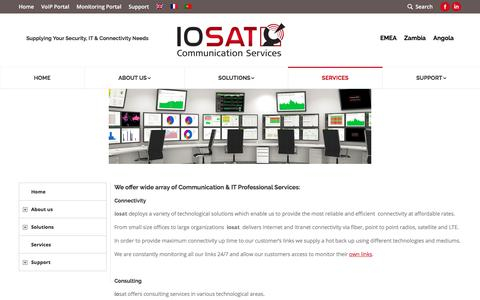Screenshot of Services Page io-sat.com - IO-sat - services - captured July 25, 2018