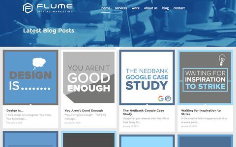 Screenshot of Blog flume.co.za - Blog - Flume - captured Feb. 10, 2016