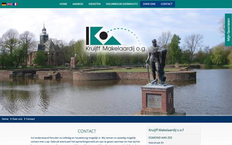 Screenshot of Contact Page kruijffmakelaardij.nl - Contact - Kruijff Makelaardij v.o.f - captured Oct. 16, 2018