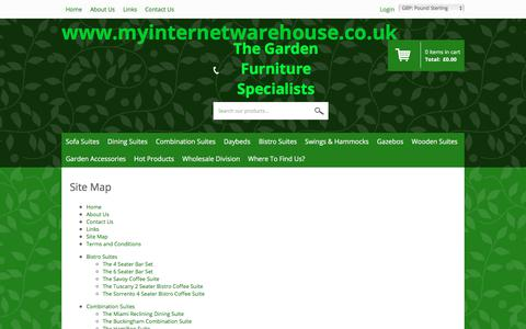 Screenshot of Site Map Page myinternetwarehouse.co.uk - Sitemap - captured June 18, 2017