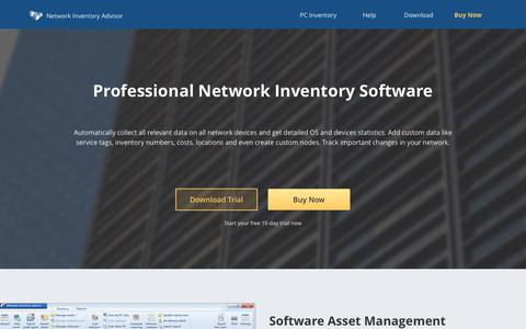 Screenshot of Home Page network-inventory-advisor.com - Network Inventory Advisor: PC Asset Management Software - captured July 1, 2017